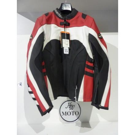GIUBBOTTO (STOCK) in pelle nero-bianco-rosso
